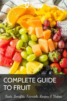 This incredible guide to fruit will blow your mind with fascinating fruit facts, fruit benefits, fruit tutorials, 200+ fruit recipes and videos. Protein Fruit Smoothie, Fruit Smoothie Recipes, Fruit Drinks, Smoothie Diet, Fruit Recipes, Raw Vegan Recipes, Vegan Food, Healthy Fruits, Healthy Eating