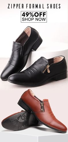 b0cc99155cb2 Large Size Men Side Zipper Pointed Toe Slip On Business Formal Shoes is  designed for the formal occasion