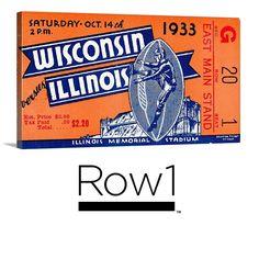 #startups #SMM #Pinterest #Pins #startup #brands #Illinois 1933 college football ticket art on canvas. #Row1