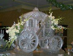 Beautiful carriage ice sculpture _ JUANITA PEACHLAND ♡ ♡ ♡ ♡ ♡