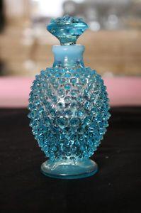 Fenton Opalescent Blue Hobnail Perfume, Cologne, Bottle w/ Stopper Mint  $24.99