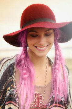 Love the pink hair hat not so much