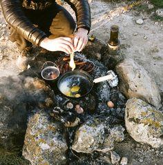 outofreception:  cooking breakfast outside #poler #polerstuff #campvibes