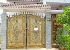 Mẫu cửa cổng nhôm đúc GAT 138