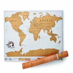 Carte Du Monde Gratter SCRATCH MAP Édition Posteur Planisphère Affiche Voyage