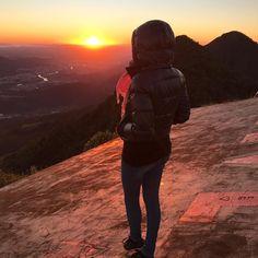 """""""Faça dos seus sonhos o seu objetivo"""".  #bomdia #morrodasantenas #jaraguadosul #sc #sunrise"""