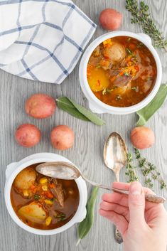 Homemade Turkey Soup with Creamer Potatoes - The Little Potato Company Easy Dinner Recipes, Appetizer Recipes, Leftovers Recipes, Homemade Turkey Soup, Slow Cooker Chicken Curry, Turkey Broth, Little Potatoes, Canadian Food, Roasted Potatoes