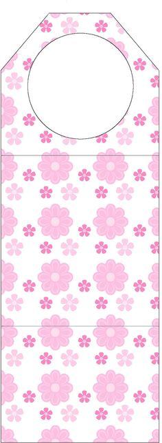 AQUARELINHA: Kit Flor rosa e branco