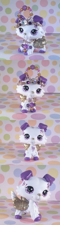 Littlest Pet Shop 150925: Littlest Pet Shop Cute Angel Collie Dog, Ooak Custom, Hand Painted, Lps -> BUY IT NOW ONLY: $58 on eBay!