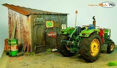 John Deere 3120 by GeorgesLeBras · Putty&Paint Farm Toys, Miniture Things, Model Building, Model Trains, Scale Models, Vignettes, Scene, Projects, Elm Street