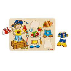 Jouet en bois Puzzle en bois GOKI Petit pirate à habiller Jouets Des Bois