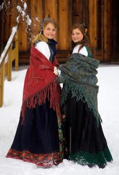 shawls norwegian-style  ( a necessity during the winter)