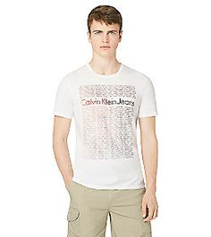 Product: Calvin Klein Jeans® Men's White 'Repeat Words' Graphic Tee