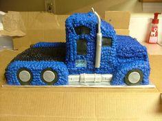 Semi Truck cake #FreightCenter #freight