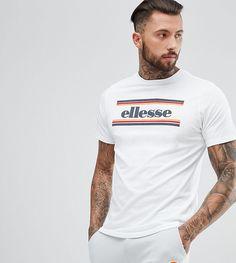 Mens fashion and styles #mensfashion #ad Ellesse Speranza Crew Neck T-Shirt In White