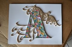 Image uploaded by Faith Russendren. Find images and videos about art of quilling on We Heart It - the app to get lost in what you love. Quilling Letters, Quilling Paper Craft, Art N Craft, Craft Work, Quilling Animals, Paper Quilling Designs, Quilling Ideas, Alphabet, Quilling Techniques