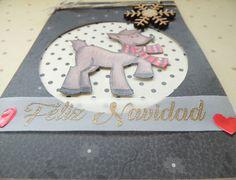Tarjeta Reno, tarjetas artesanales, tarejtas hechas a mano, tarjetas para toda ocasión