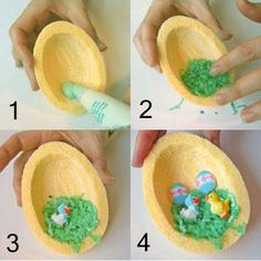 How to make sugar egg panoramas, I remember these as a child.