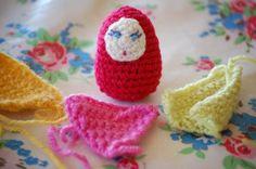 Crochet Russian Nesting Doll (Matroyshka?)