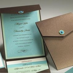 Invitations with twine or jute wrapped to close around the 'knob'?