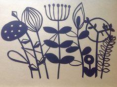 Scandinavian Flowers Papercut