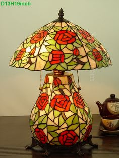 Rose Tiffany Lamps  13S0-104T52