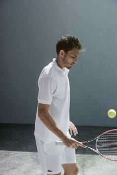 #Lacoste player #NicolasMahut in #LacosteTennis #RG14 #FrenchOpen -  Photography by C. Berlet