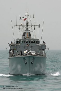 Mine counter measure vessel HMS Atherstone operating in the Middle East.