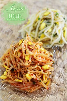 Kongnamul Muchim : Korean Soybean Sprouts Side Dish (Banchan) 콩나물 무침 만드는법 - Asian at Home
