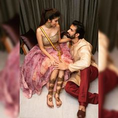See Rajeev Sen's and charu asopa wedding, pre wedding, sangeet and Haldi ceremony photos, here they are all. Couple Photoshoot Poses, Saree Photoshoot, Pre Wedding Photoshoot, Wedding Pics, Wedding Shoot, Pre Wedding Poses, Wedding Couple Poses, Wedding Couples, Indian Bridal Photos