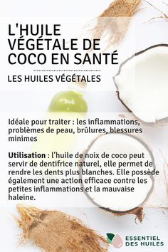 Cocktails Fruités, Natural Toothpaste, Coconut Oil, Cooking Recipes