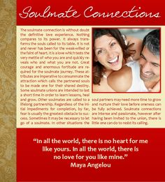 Soulmate Connections, Love, Soulmates, Maya Angelou, Winter, Christmas, Hanukkah, Holidays, Quotes