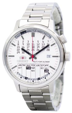 Orient Stylish And Smart Multi-Year Calendar ER2L004W Mens Watch | eBay