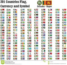 All Country Currency Style Symbol Design Symbols Flag Branding