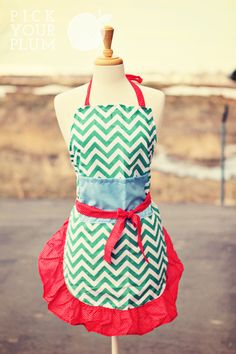 Adorable aprons! In adult and kids sizes! This one is called Pistachio Layer Cake! So fun!! Get yours today at pickyourplum.com