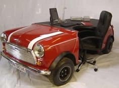 Mini Cooper Desk...since I doubt I'll ever be able to part with mine, even if it won't run anymore!  :)