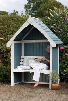Forest Garden Limoge Arbour A large arbour seat, fully enclosed to provide shelter. Fully enclosed to provide protection against wind and rain. Supplied in an unpainted timber finish. #arbours