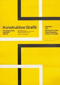 Hans Neuberg Poster: Konstruktive Grafik