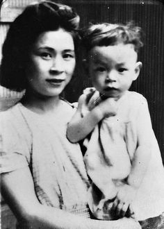 Hayao Miyazaki and his mother. I wonder if his rich imagination was cultivated by his mom.