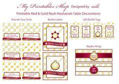Printable Shanah Tova Table Decorations for Rosh Hashanah on My Etsy Shop - http://www.etsy.com/shop/MyPrintablesShop?section_id=13982833