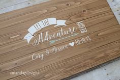 Let the Adventure Begin Guest Book Alternative by AmandaGdesigns