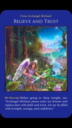 Archangel Michael Angel Cards by Doreen Virtue Ste Bernadette, Michael Angel, St Michael, Archangel Prayers, I Believe In Angels, Angel Numbers, Spiritual Messages, Angel Cards, Guardian Angels