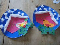 Preschool Christmas, Preschool Crafts, Crafts For Kids, Feeding Birds In Winter, Art Plastic, Kindergarten, Puppet Crafts, Spring Crafts, Kids And Parenting