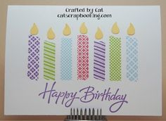 Washi candle Card