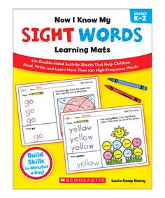 Take a look at this Now I Know My Sight Words Learning Mats on zulily today!