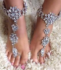 "The Django"" Bijou Gypsy Barefoot Sandals"