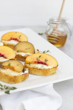 Summer Stone Fruit Crostini