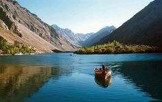 beautiful scene ov Satpara lake, Gilgit baltistan Pk