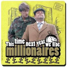Nicholas Lyndhurst as Rodney Trotter, and Diamond Geezer David Jason as Derek 'Del Boy' Trotter, in 'Only Fools & Horses' British Humor, British Comedy, British Actors, David Jason, Tv Scripts, Only Fools And Horses, Cartoon Jokes, Horse Quotes, Business Advice