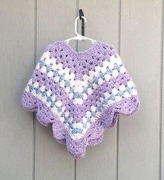 Girl's+crochet+poncho+Child's+crocheted+poncho.+by+LurayKnitwear,